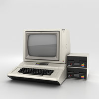 3D apple ii computer