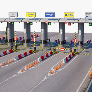 3D model highway toll gate
