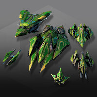 3D model spaceships low-poly