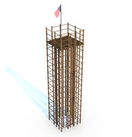 wood tower model