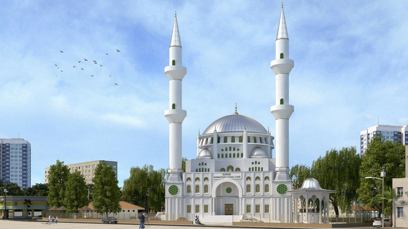 3D turkish mosque model