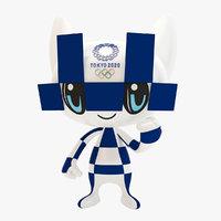 3D tokyo 2020 games mascot