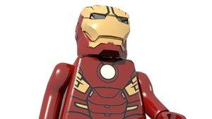 lego ironman 3D model