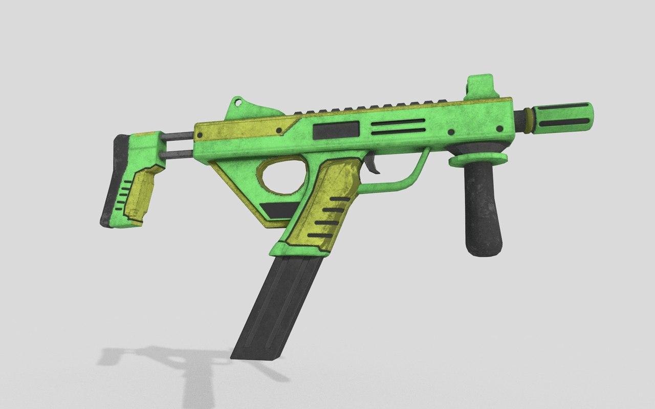 3D sub machine gun