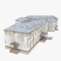 destroyed building model