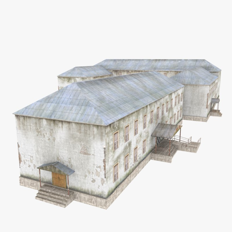 destroyed building model