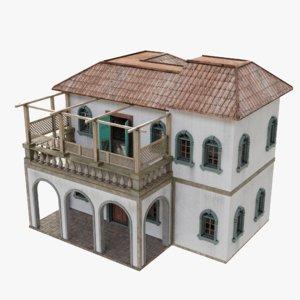 3D villa blender 4k model