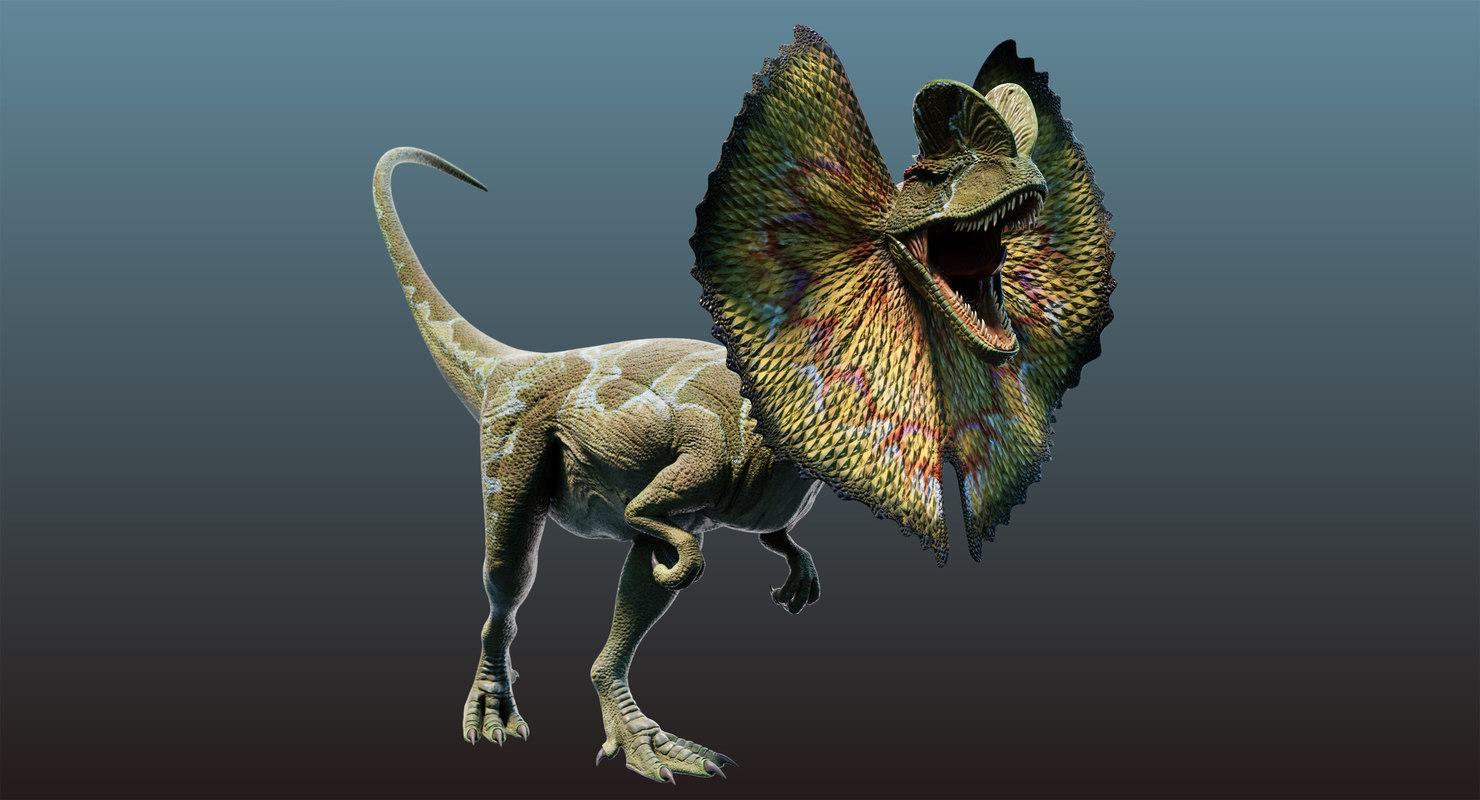 dilophosaurus rigged animation model