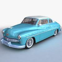 3D generic retro sedan model