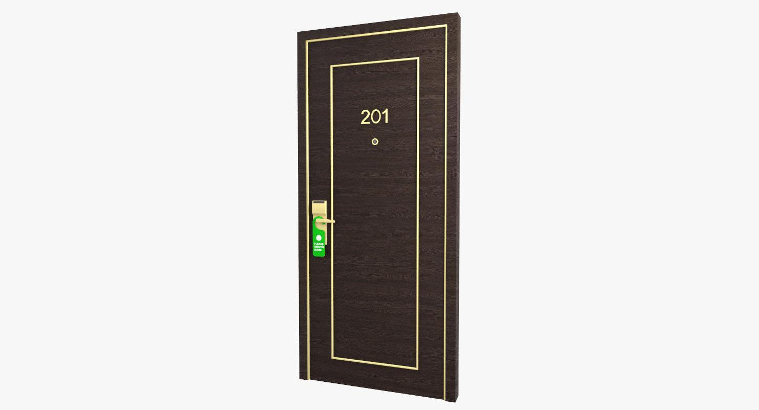 3D hotel door handle