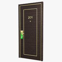Hotel Door 02 3D Model