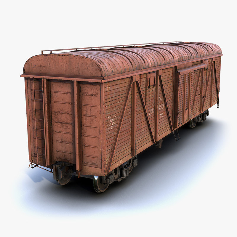 low-poly boxcar car model