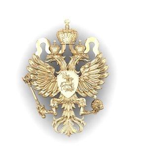 coat arms russian empire 3D model