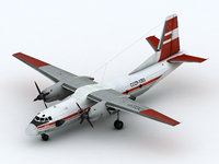 3D an-26 red colors