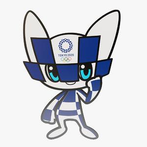 3D model tokyo 2020 games mascot