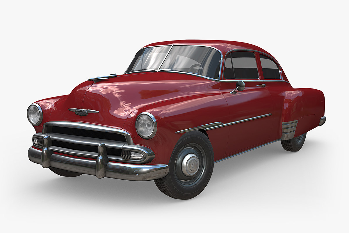chevrolet fleetline 1951 3D model