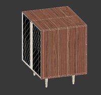 starke geometric cabinet 3D