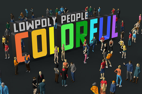 3D people colorful model