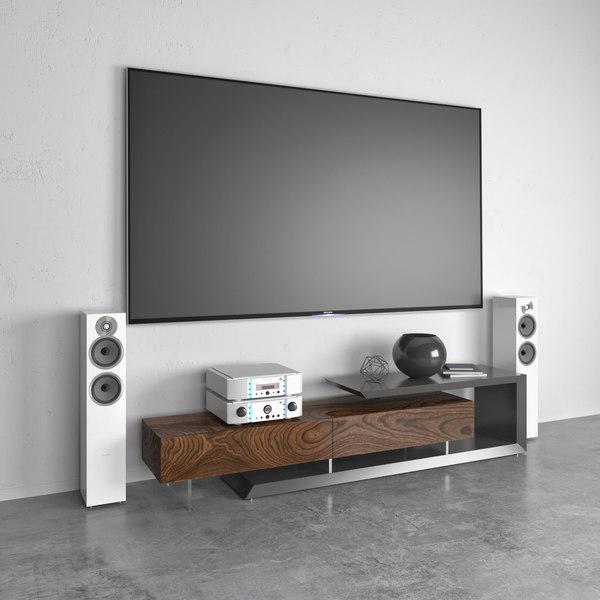 3D tv cabinet cattelan italia model