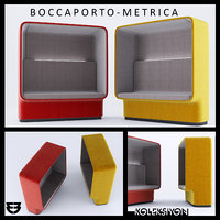 boccaporto armchair design metrica 3D model