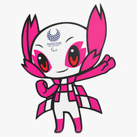 3D tokyo mascot paralympic