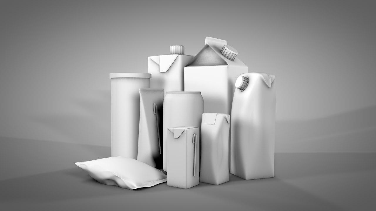 3D cardboard packaging