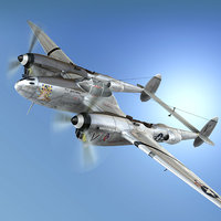 3D lockheed lightning - pecks