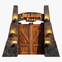 jurassic park gate model