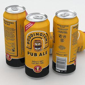 3D model beer ale