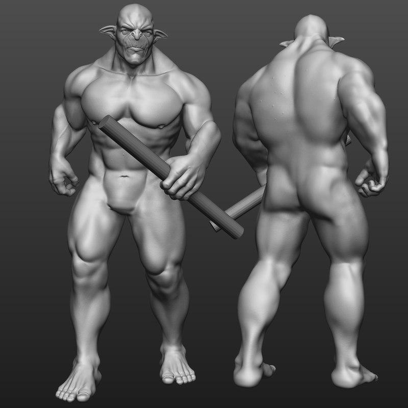 3D troll body model