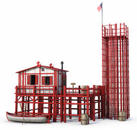 3D house marine red
