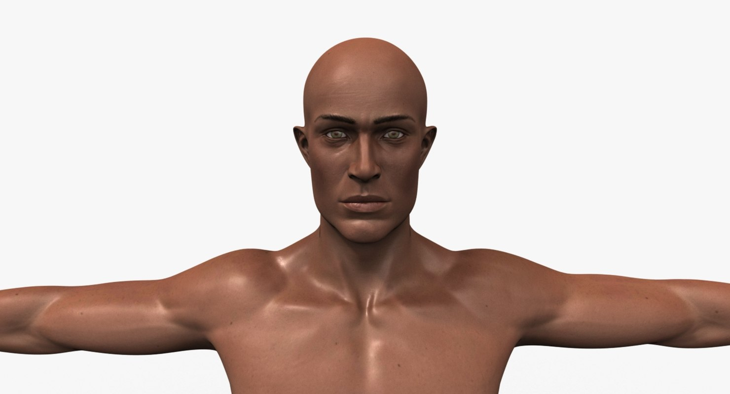 realistic male character body model
