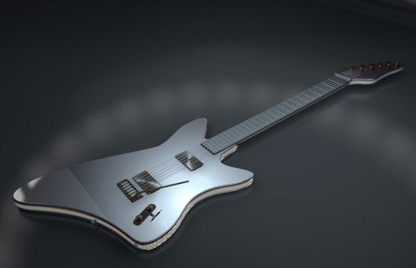 3D electric guitar model