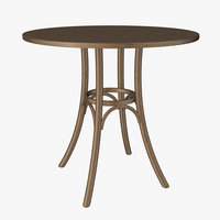 bentwood wood table 3D model