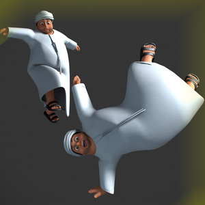 cartoon fatman rigged character 3D