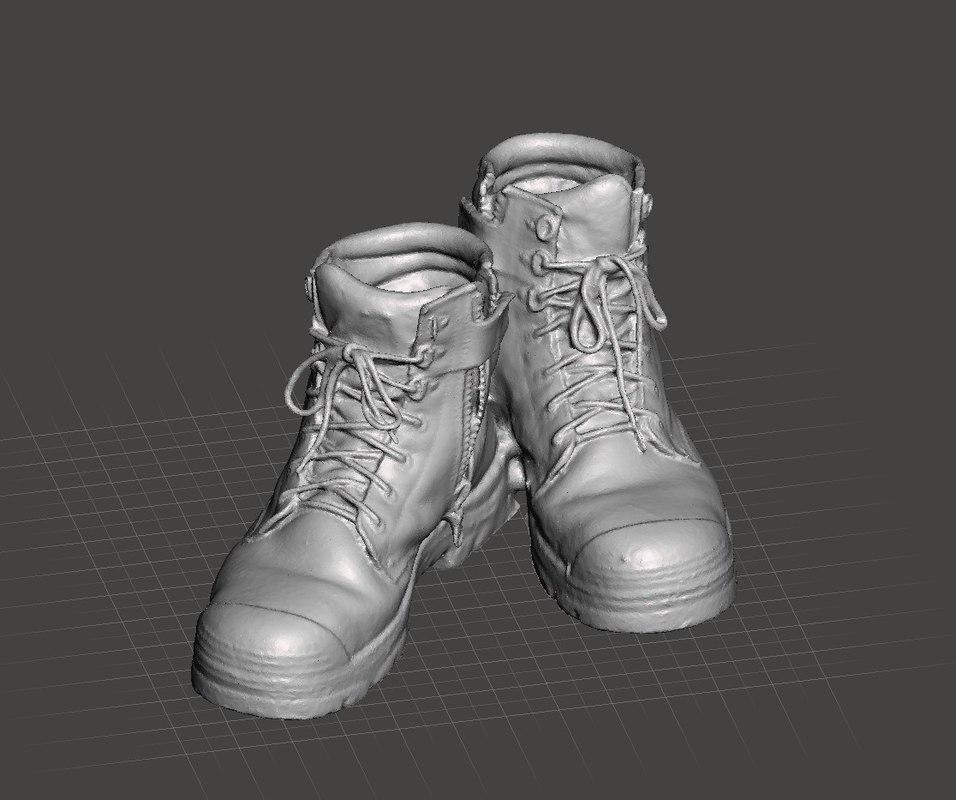 3D work boots model