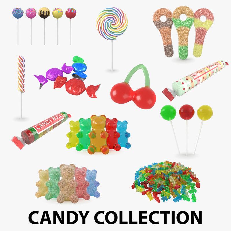 candy gummy bear 3D model