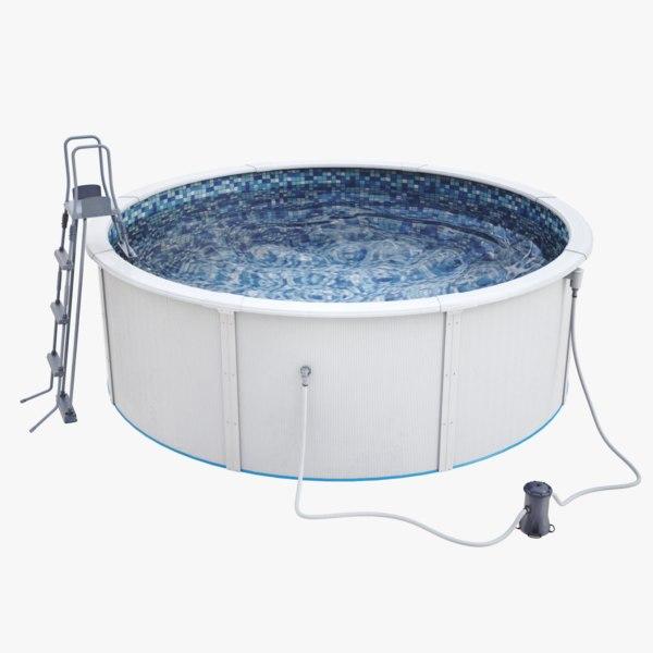 3D lightwave waterpool water pump model