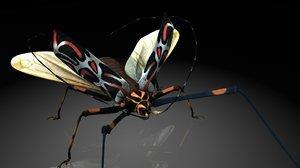 cerambycidaeinsect 3D model
