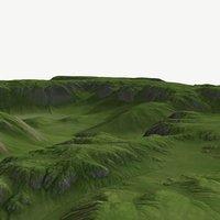 3D landscape land scape model