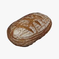loaf bread 3D model