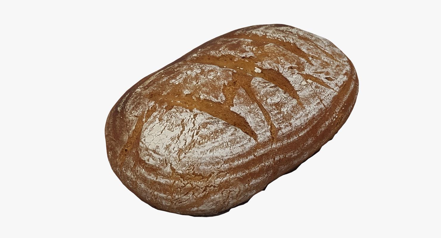 loaf bread 3D model