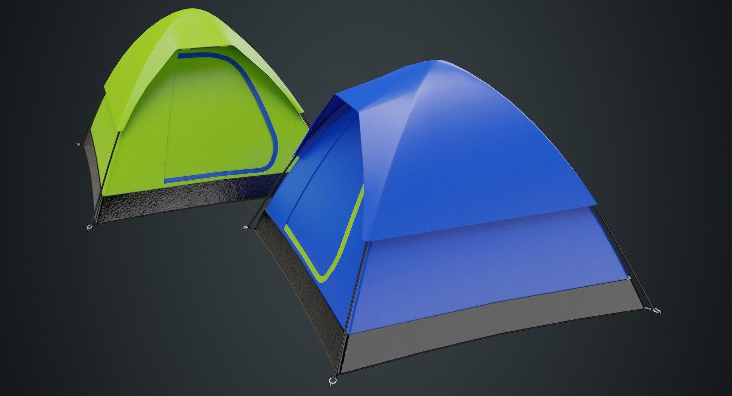 3D camping tent 2a model