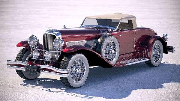 duesenberg sj roadster 3D model