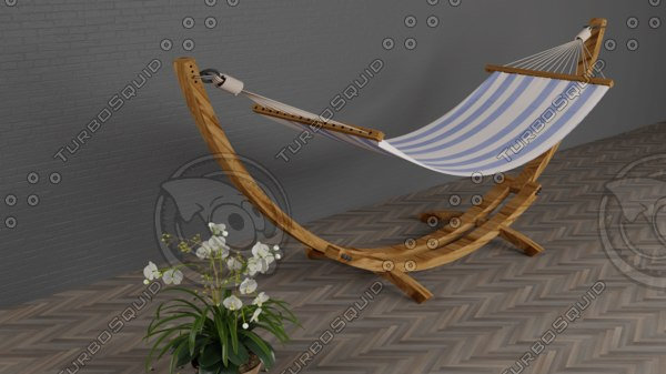 3D model hammock modelled
