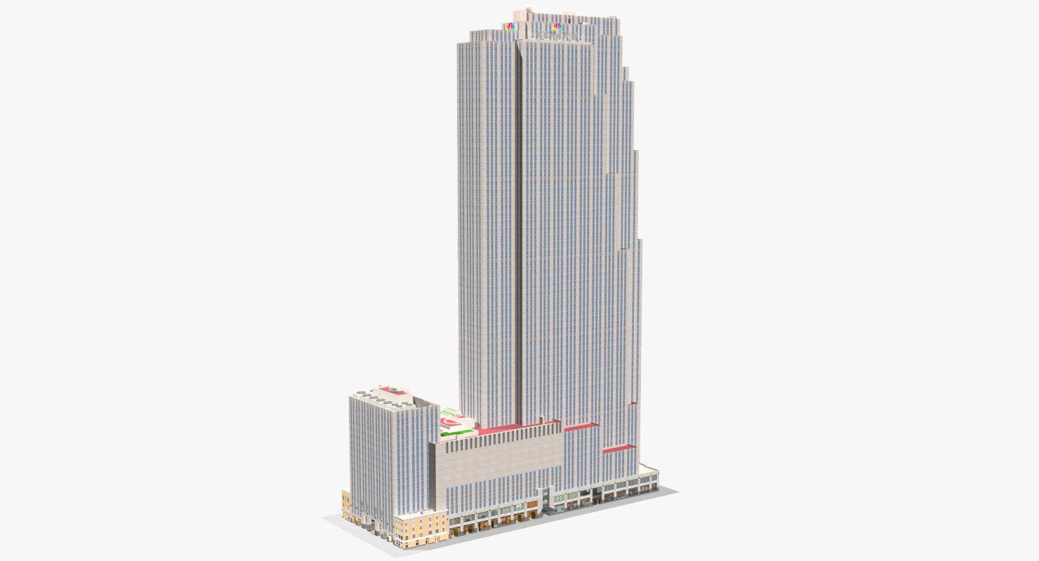 center comcast building model