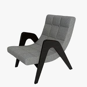 edie lounge chair 3D model