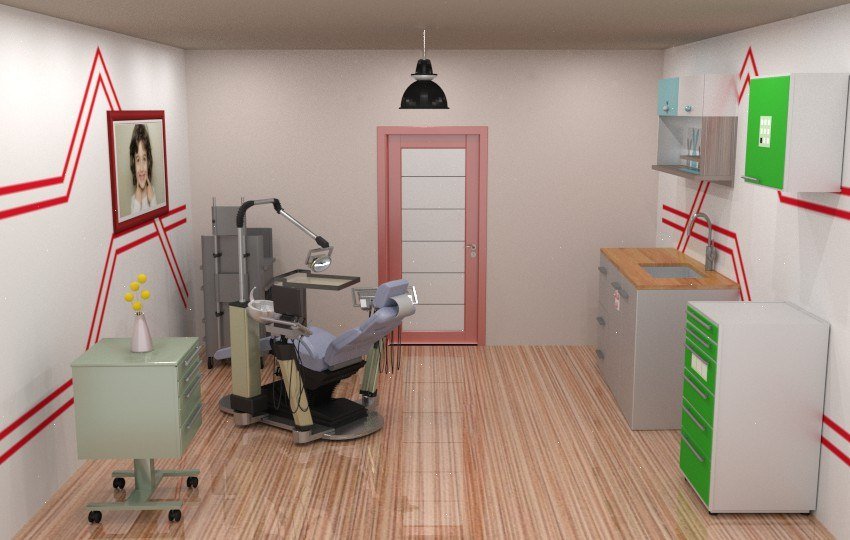 3D clinic dentist model