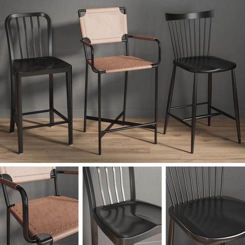 bar chairs 2 model
