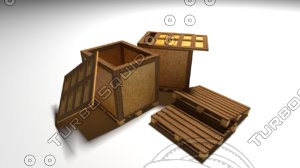 -forklift palette low-poly 3D model